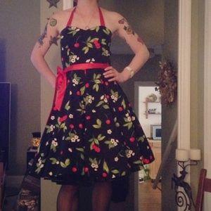 Cherry Print Swing Dress